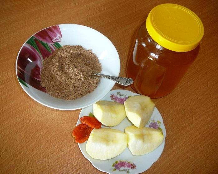 Ингредиенты для льняной каши.