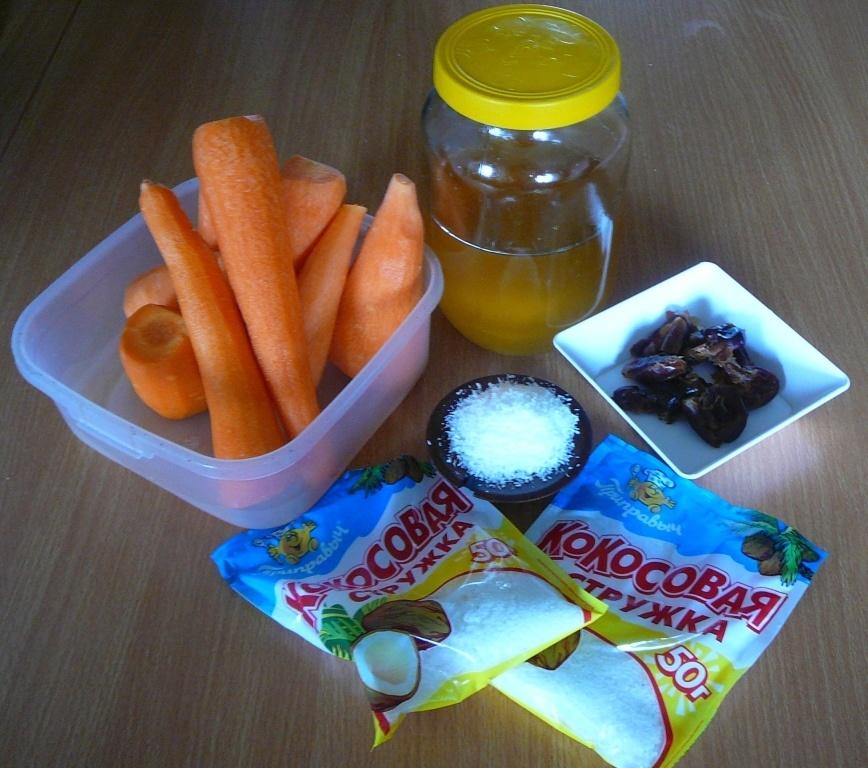 необходимые продукты для морковных конфет
